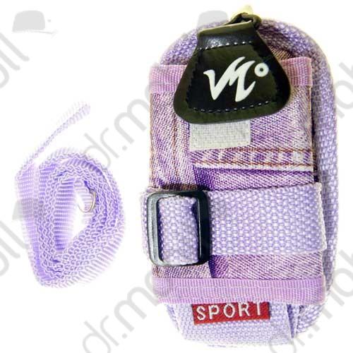 Tok Univerzális Sport lila farmer mintás (tépőzáras, nyakba akasztható, karabineres, övrevüzhető)