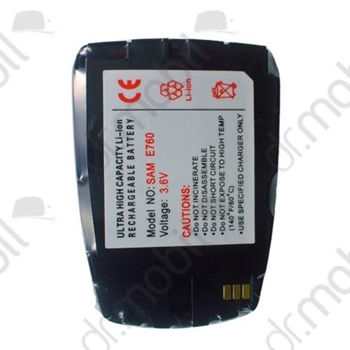 Akkumulátor Samsung SGH-E760 500mAh Li-ion fekete (BST5208BE kompatibilis)