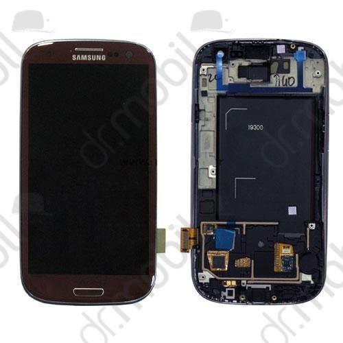 LCD érintőpanel Samsung GT-I9300 Galaxy S III. (Galaxy S3) GH97-13630D barna