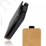 Tok álló bőr Samsung GT-I9100 Galaxy S II (ultra slim design, rejtett mágneses zár) flip fekete