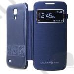 Tok flip cover Samsung GT-I9192 Galaxy S IV. mini DUAL (S4 mini) (ablakos, aktív) sötétkék