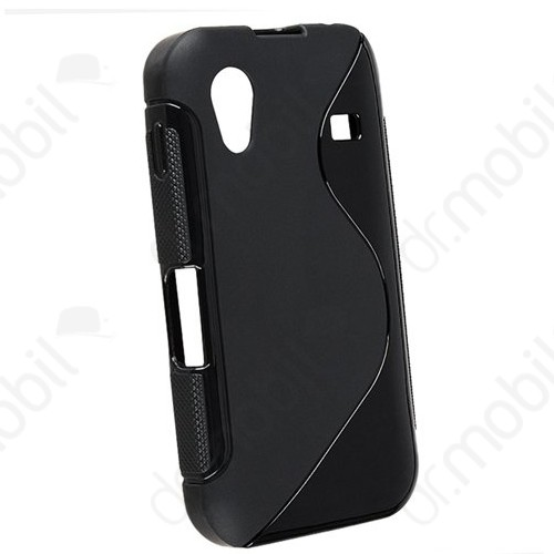 Tok telefonvédő szilikon Samsung GT-S5830i Galaxy Ace S-line fekete