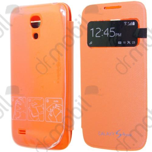 Tok flip cover Samsung GT-I9192 Galaxy S IV. mini DUAL (S4 mini) (ablakos, aktív) narancs