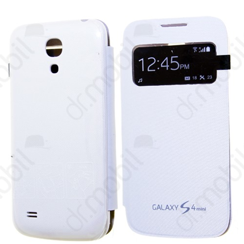 Tok flip cover Samsung GT-I9192 Galaxy S IV. mini DUAL (S4 mini) (ablakos, aktív) fehér