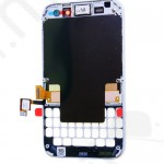 Kijelző előlap BlackBerry Q5 (lcd, érintőpanel, átvezető fóliával, előlap keret) fehér