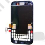 Kijelző előlap BlackBerry Q5 (lcd, érintőpanel, átvezető fóliával, előlap keret) fekete