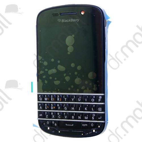 Előlap BlackBerry Q10 (lcd, érintőpanel, átvezető fóliával, billenytűzet, előlap keret) fekete