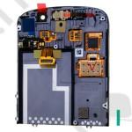 LCD kijelző BlackBerry Q10 (érintőpanel, átvezető fóliával) fekete