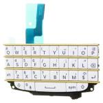 Billentyűzet BlackBerry Q10 (panel, átvezető fólával) QWERTY fehér - arany*
