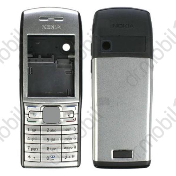 Előlap Nokia E50 komplett ház ezüst (utángyártott) 39b9e4939a