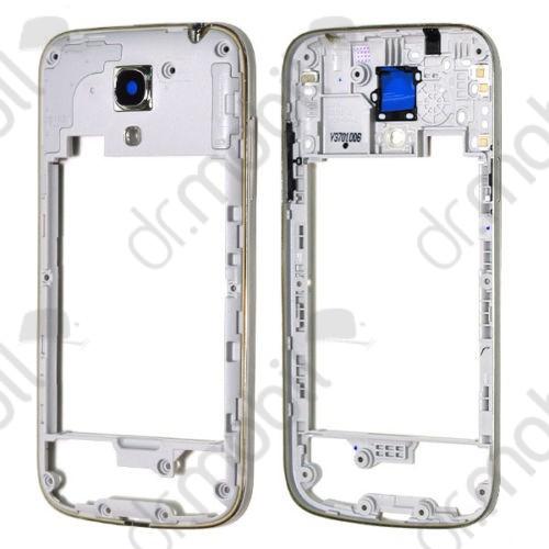 Középrész Samsung GT-I9195 Galaxy S IV. mini (S4 mini) ezüst (oldalgombokkal)