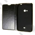 Tok notesz Samsung SM-A500F Galaxy A5 tpu + bőr oldalra flip nyitható fekete