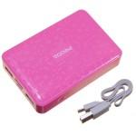 Hordozható vésztöltő Proda Pure (12000mAh Li-Ion akkumulátorról bárhol töltheti telefonját) rózsaszín