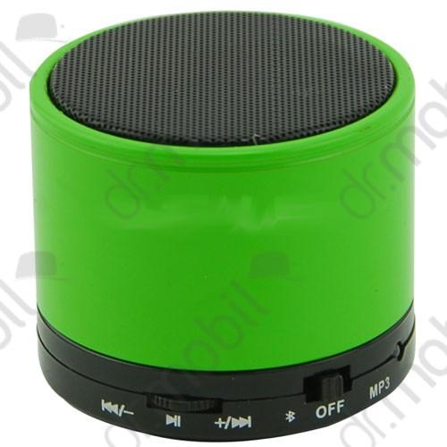 Bluetooth hangszóró S10 zöld (kihangosító,fm, mp3 microSD lejátszó)
