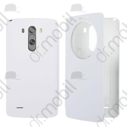 Tok flip cover LG G3 D855 (ablakos) bőr fehér