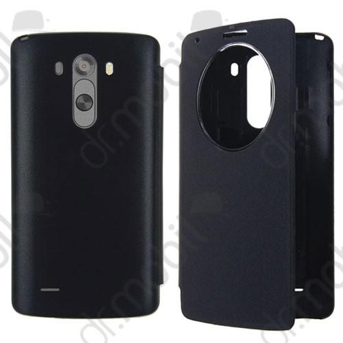 Tok flip cover LG G3 D855 (ablakos) bőr fekete