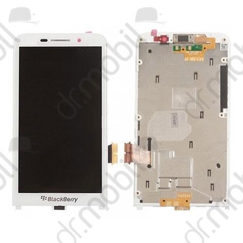 LCD kijelző BlackBerry Z30 (érintőpanel, átvezető fóliával) fehér