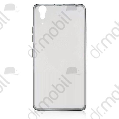 Tok telefonvédő gumi 0,3mm Lenovo A6000 ultravékony füstszinű