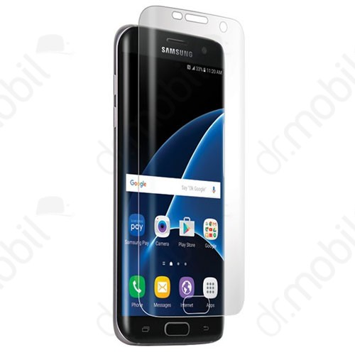 Képernyővédő üvegfólia Samsung SM-G935 Galaxy S7 EDGE Nano Slim lekerekített átlátszó (1 db-os, edzett üveg, karcálló, 9H)