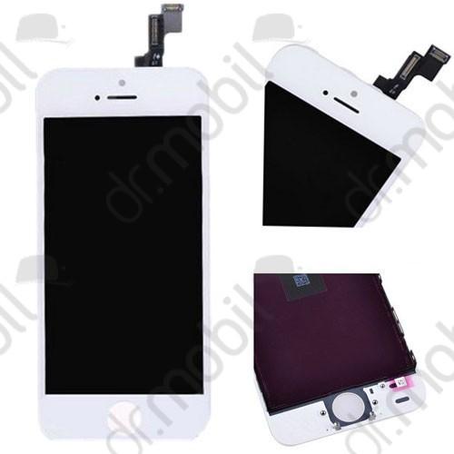 Előlap kijelző Apple iPhone 5s (lcd, érintőpanel, átvezető fóliával, keret) fehér