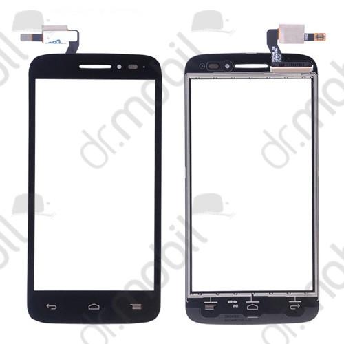 Előlap Alcatel One Touch Pop 2 OT5042, 5042, 5042D, 5042X, 5042W (érintő panellel) fekete