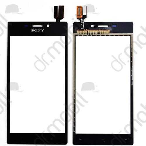 Előlap Sony Xperia M2 D2302 D2303 D2305 D2306 (érintő panellel) fekete