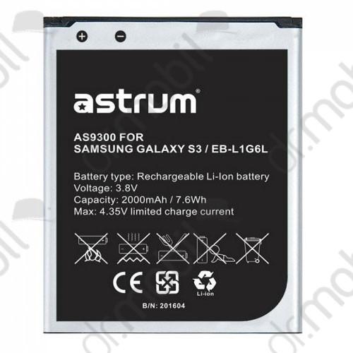 Akkumulátor Samsung GT-I9301i Galaxy S3 Neo 2000mAh Li-ion A73659-B (EB-L1G6LLUC kompatibilis)