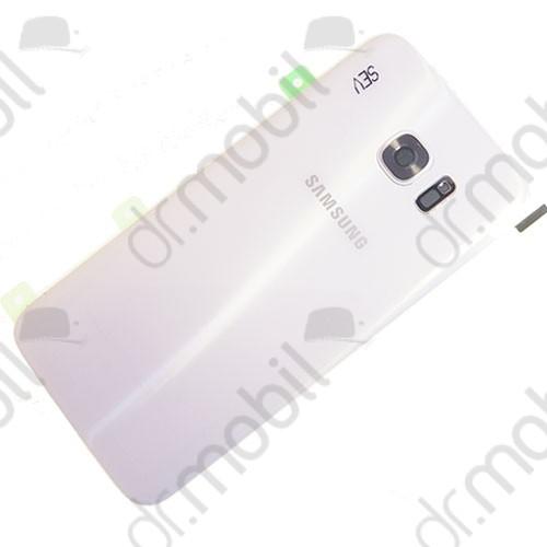 Akkufedél Samsung SM-G935 Galaxy S7 EDGE hátlap fehér