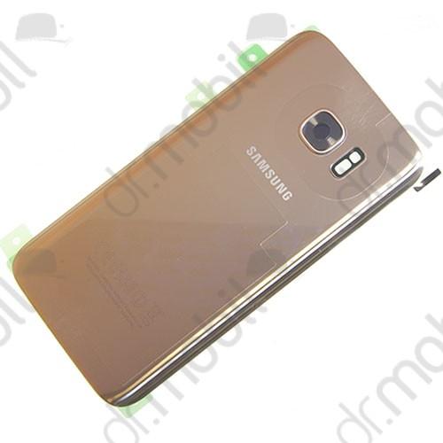 Akkufedél Samsung SM-G930 Galaxy S7 hátlap arany
