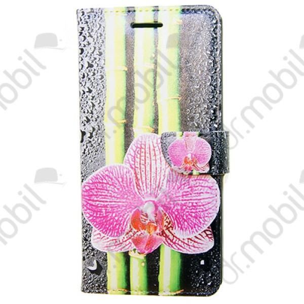 Tok flip Huawei Ascend P7 (kártya és asztali tartó funkció) színes mintás  virágos 81d7077a48
