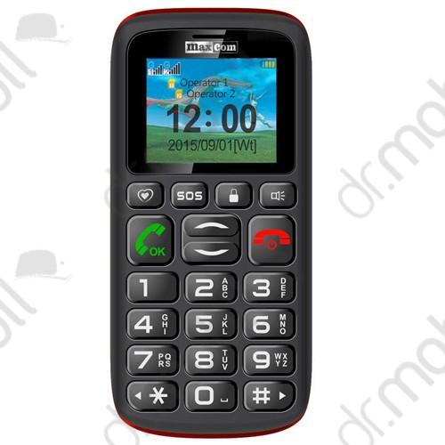 Mobiltelefon készülék Maxcom MM428BB piros-fekete extra nagy gombokkal DUAL SIM