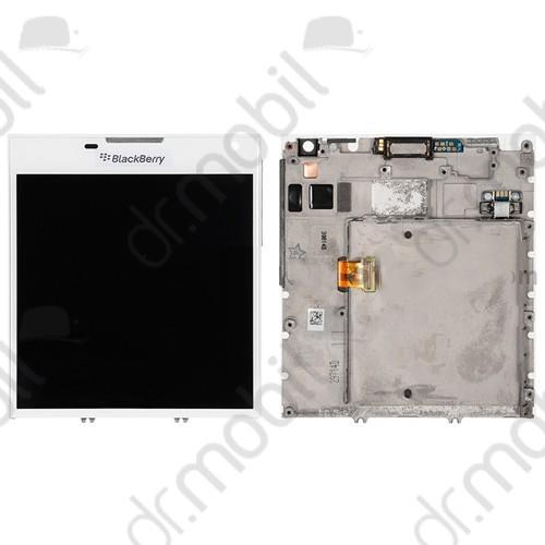 Kijelző előlap BlackBerry Q30 Passport (lcd, érintőpanel, átvezető fóliával, rezgő, proxy, hangszóró és keret) fehér