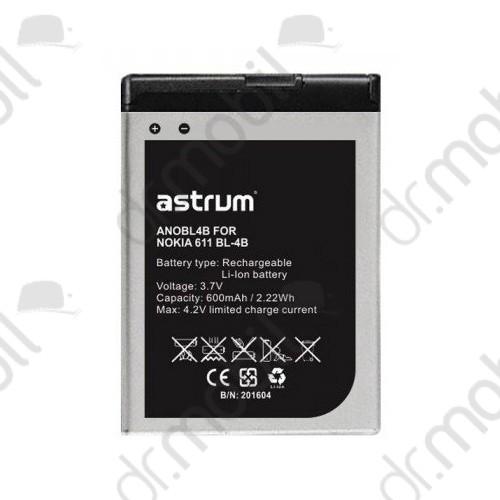 Akkumulátor Nokia 6111 600mAh Li-ion (BL-4B/BL-4BA kompatibilis) A73538-B astrum