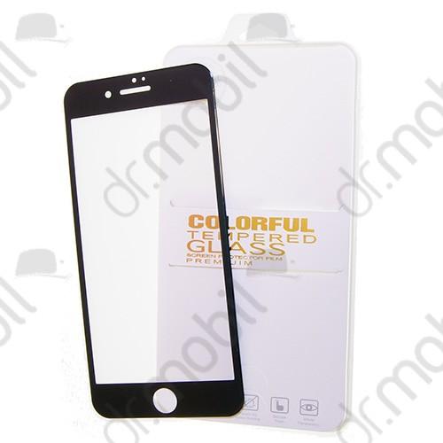 Képernyővédő üveg fólia Apple iPhone 6 Plus / 6s Plus (karcálló, 9H, ultravékony flexibilis) Colorful Tempered Glass fekete