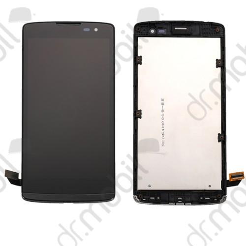 Előlap érintőkijelzővel LG Leon (H340n) fekete komplett modul LCD kijelző kerettel