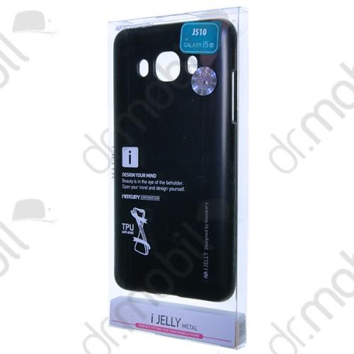 Tok telefonvédő TPU i - Jelly metal Mercury Samsung SM-J510 Galaxy J5 (2016) fekete