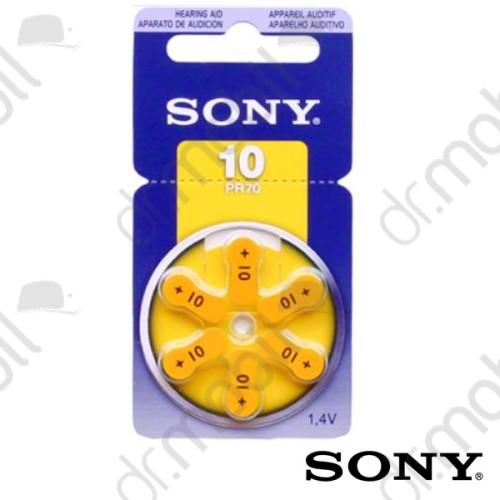 Elem Sony 10-es (PR70) hallókészülék elem 1,4V BL/6 - 1,4V - 6 db/csomag