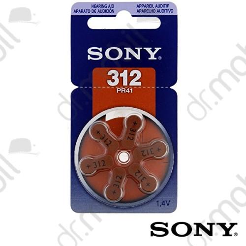 Elem Sony 312-es (PR41) hallókészülék elem 1,4V BL/6 - 1,4V - 6 db/csomag