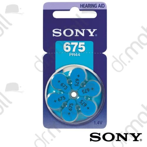 Elem Sony 675-ös (PR44) hallókészülék elem 1,4V BL/6 - 1,4V - 6 db/csomag
