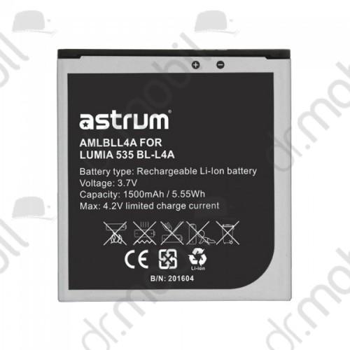 Akkumulátor Microsoft Lumia 535 2300mAh Li-ion A73632-B ( BL-L4A kompatibilis) astrum