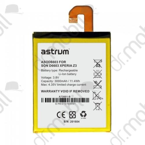 Akkumulátor Sony Xperia Z3 (D6653) 3000mAh Li-ion A73601-B astrum