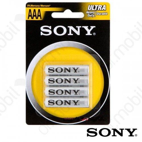 Elem Sony Ultra Carbon Zinc AAA-R03 1,5V micro elem - 4 db/csomag