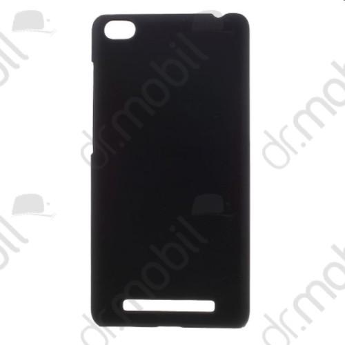 Műanyag telefonvédő XIAOMI Redmi 3 - 3s gumírozott fekete