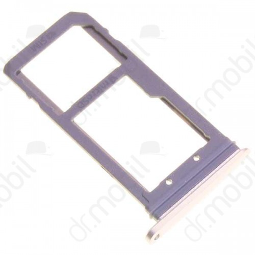 SIM tálca / tartó Samsung SM-G930 Galaxy S7 sim és memória kártya tartó arany