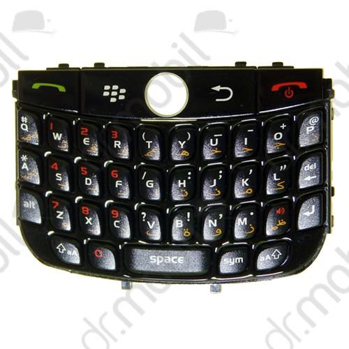 Billentyűzet BlackBerry 8900 Curve fekete QWERTY (arab)