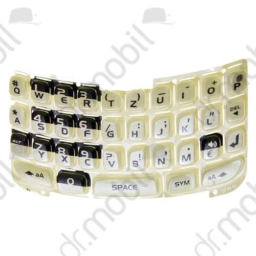 Billentyűzet BlackBerry 8310 Curve ezüst QWERTZ