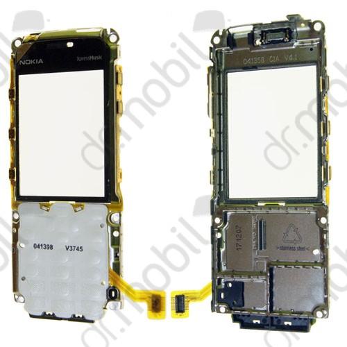 Plexi ablak Nokia 5310 (hangszóró, billentyűzet panellel, fóliával, kijelzőkerettel, oldalgombfóliával) fekete